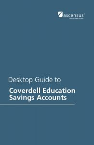 #650 Desktop Guide to Coverdell Education Savings Accounts - 4th Edition (3/2016)